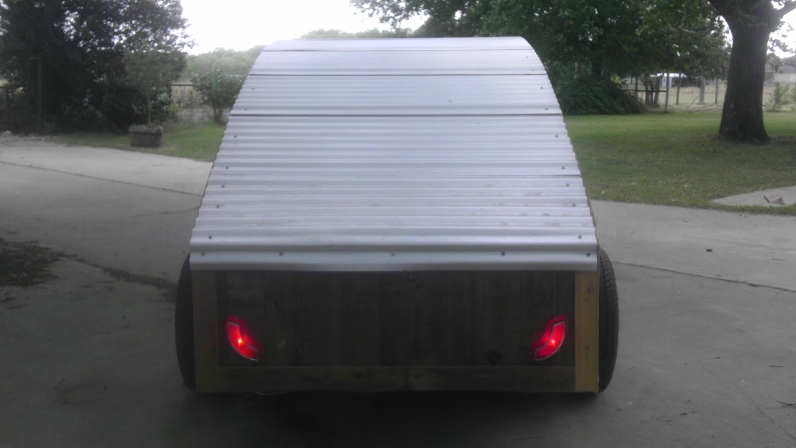 Your Lights Are On In The Dog House Teardrop Trailer Light Wiring Kit Harbor Freight Remember That Eddie Murphy Bitanyway Installed Tail Today Using Some Bulb Bases Galvanized Flashing And A