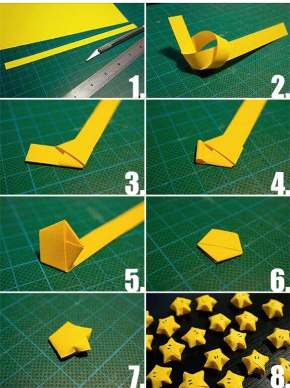 lexyskreativblog kleine 3 d papiersterne tutorial. Black Bedroom Furniture Sets. Home Design Ideas