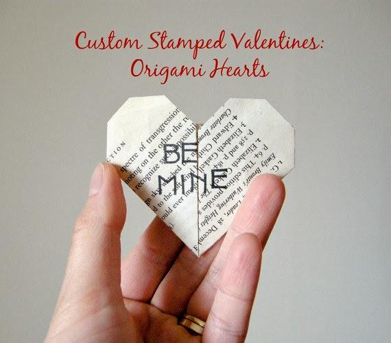 koperty pełne miłości czyli walentynkowe inspiracje DIY serce origami