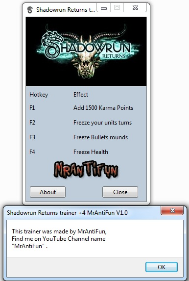 Shadowrun Returns Trainer +4 Version 1.0 MrAntiFun