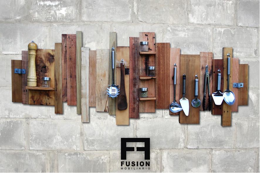 Organizador de cocina fusion mobiliario for Organizador utensilios cocina