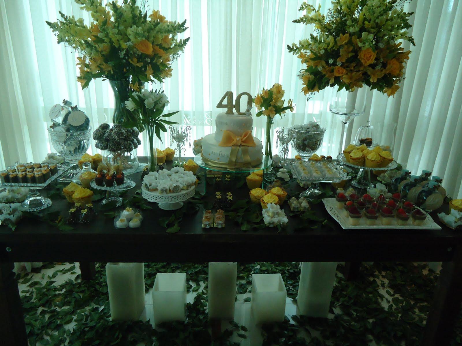 Donna Maroka Eventos Personalizados Aniversário 40 Anos Simples Em