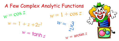 a few complex analytic functions