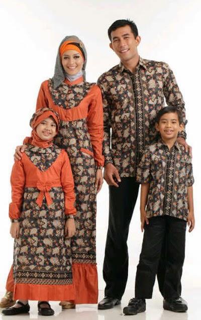 Model baju batik muslim sarimbit lebaran