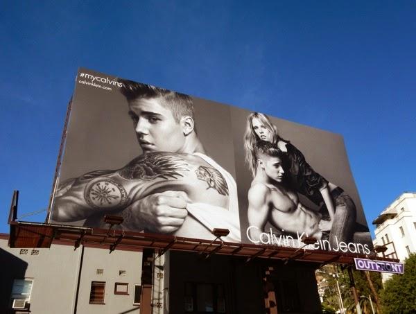 Justin Bieber Calvin Klein Jeans 2015 billboard