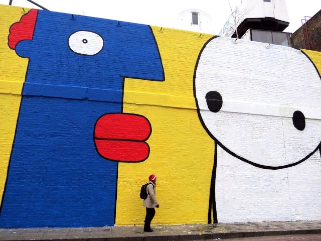 Noir Painting This Big Wall Stik His Work Can Be Found All Over London Simple But Genius Character And The One By Thierry Good Together
