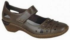 brun Rieker sko