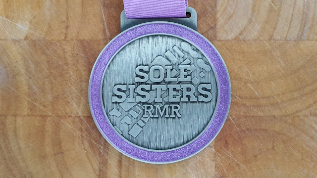 Project 365 2015 day 239 - Sole Sisters RMR Virtual Runner 10k medal // 76sunflowers