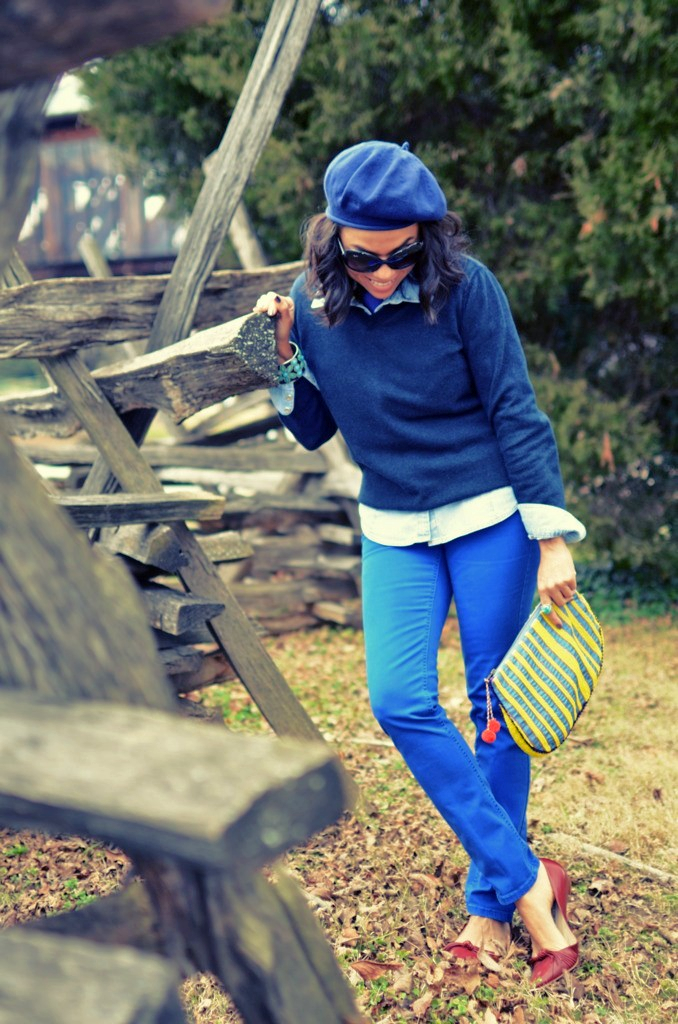 ALL BLUE OUTFIT LOOK