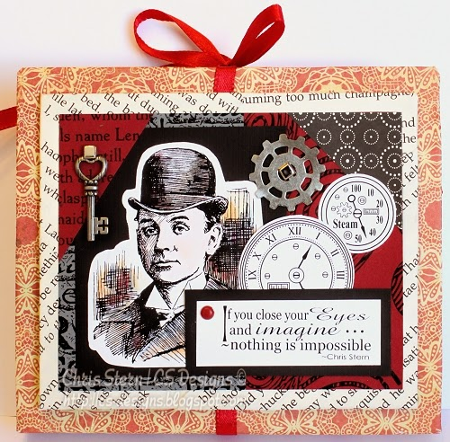 recycled art steampunk envelope book