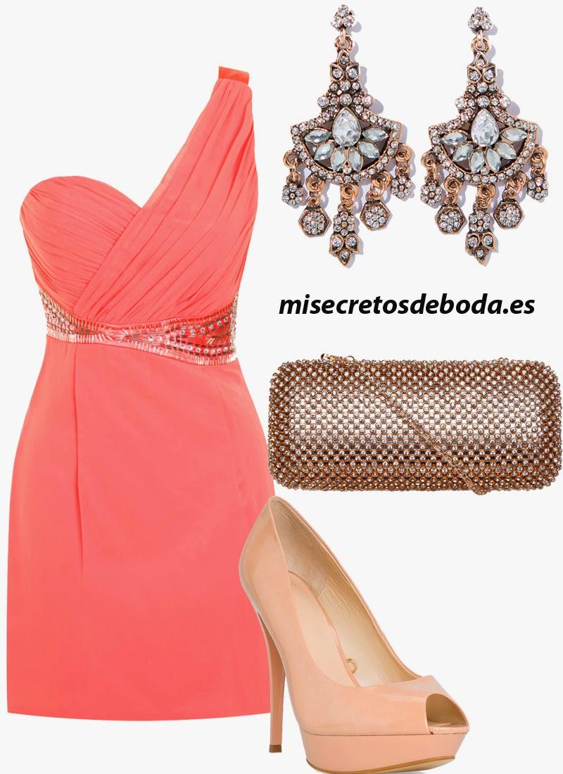 Look Invitada Boda.Vestido Coral.