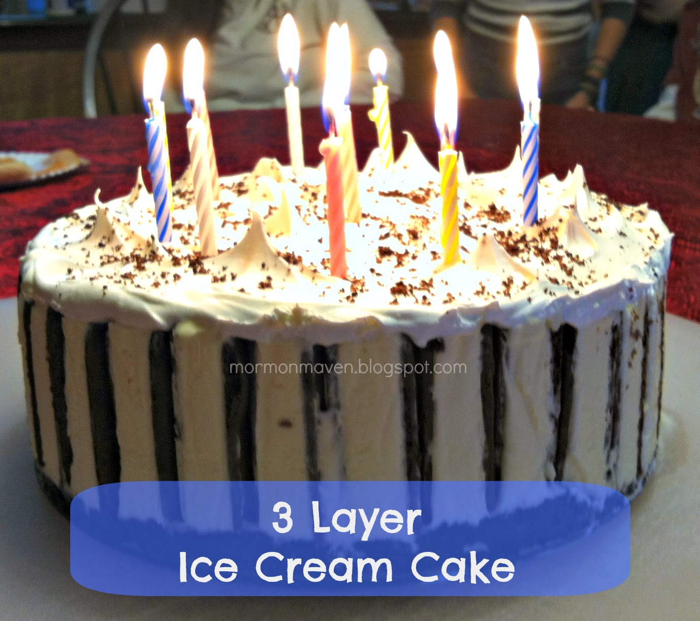 ... cream frosting delicious 7 layer ice cream cake recipe