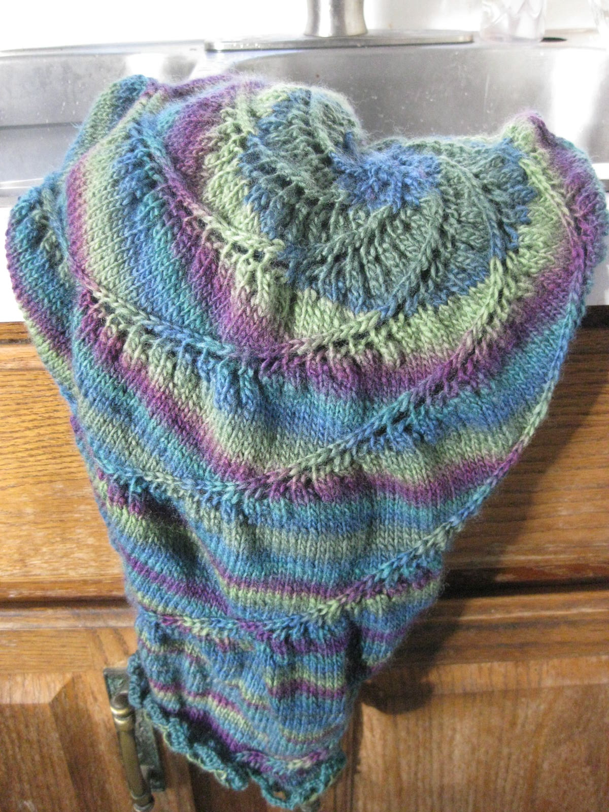 wildknits: Vortex Shawl - How to Block a Circular Item or What I Do ...