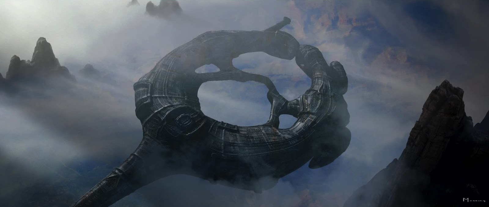 Alien Explorations Prometheus Alternate Toroidal Shaped Engineer Ships