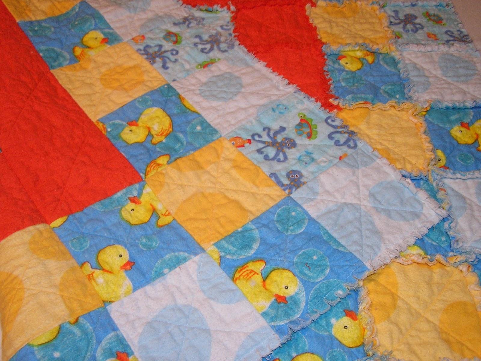 how to make rag quilt blanket