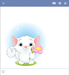 Kitten in nature - Facebook sticker