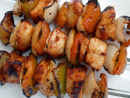 sweet heat pork or chicken kabobs