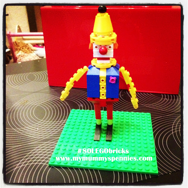 #80LEGObricks LEGO clown from 80 bricks