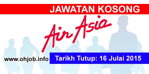 Jawatan Kerja Kosong Air Asia Malaysia logo www.ohjob.info julai 2015