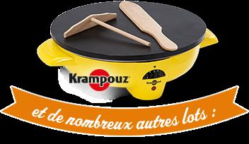 100 crêpières Krampouz Yellow + 200 livres + 300 tabliers + 100 sacs cabas