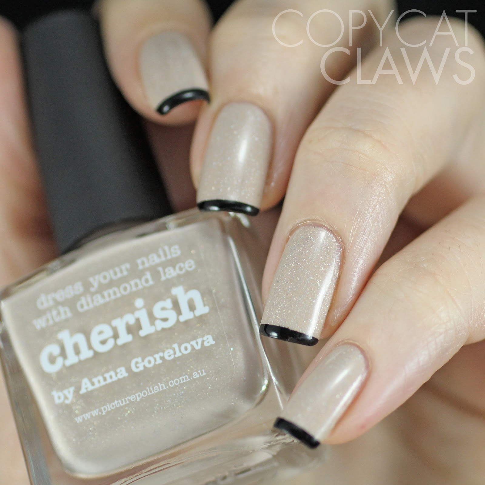 Copycat Claws: Picture Polish Cherish with Fine French Tip