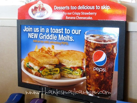 IHOP Griddle Melt sandwich