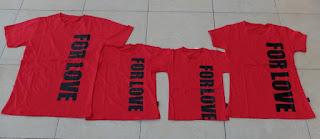 Jual Online FM2 For Love Murah di Jakarta Bahan Combed Warna Merah Keren