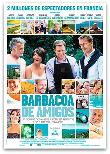 Barbacoa de Amigos cartel promocional póster película francesa
