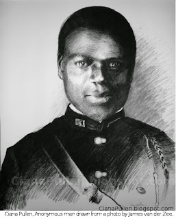 Ciana Pullen, Anonymous Man drawn from a photo by James Van Der Zee