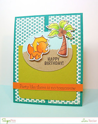 Party Like There's No Tomorrow card-designed by Lori Tecler/Inking Aloud-stamps from SugarPea Designs