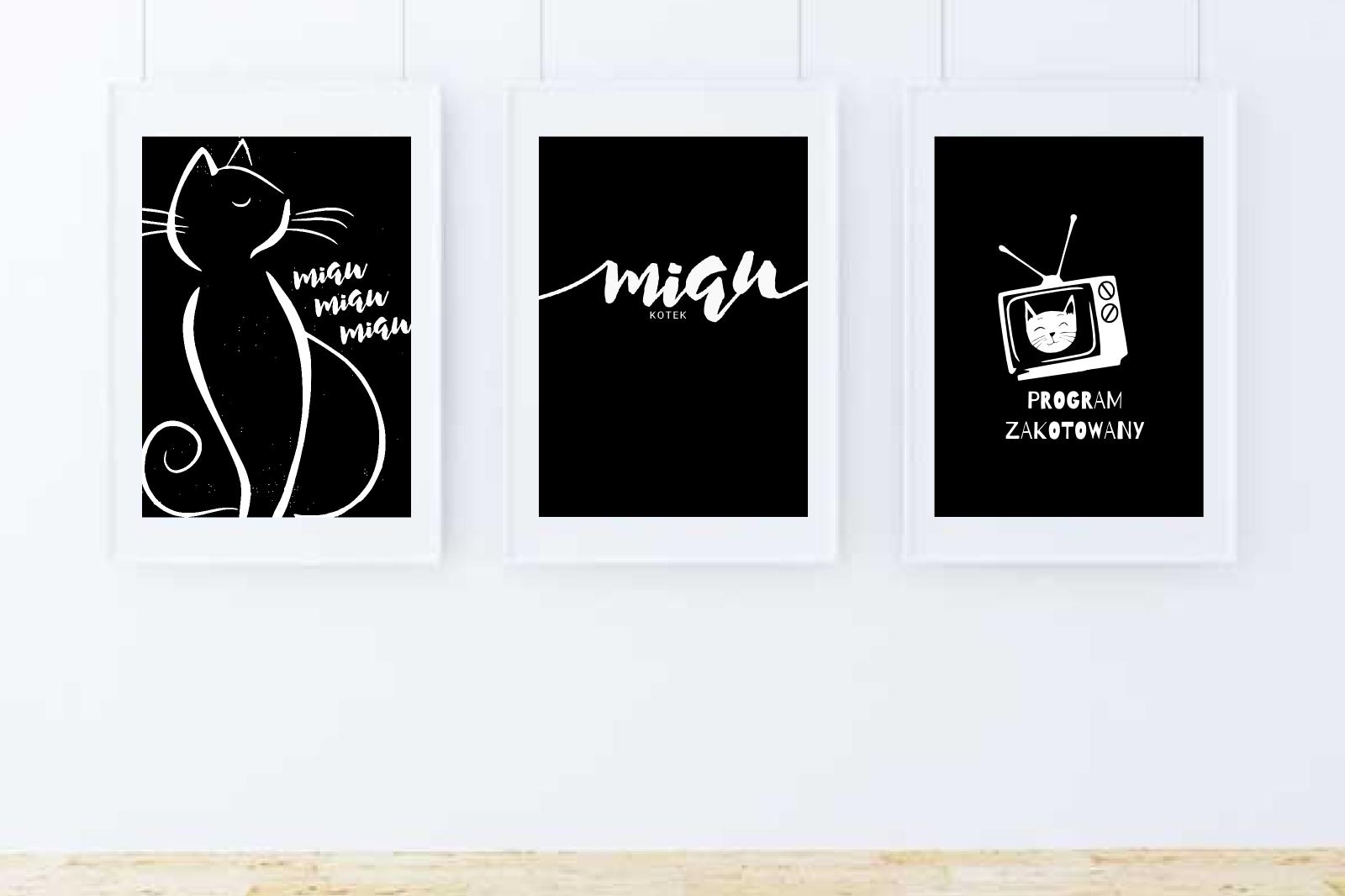 Kocie plakaty do pobrania za darmo! {balck&white}