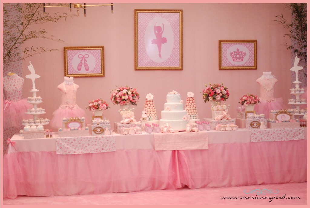 Little big company the blog ballerina party by mariana for Ballerina party decoration ideas
