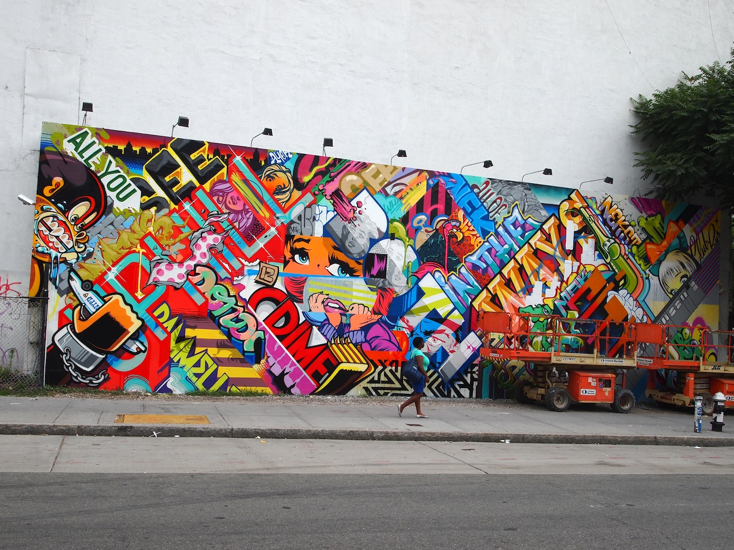 Ev grieve the colorful new landscape at houston and the for Bowery mural nyc