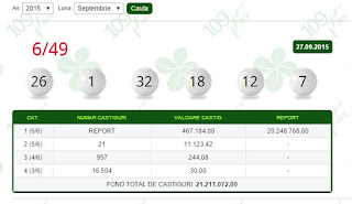 rezultate 6/49 loteria romana