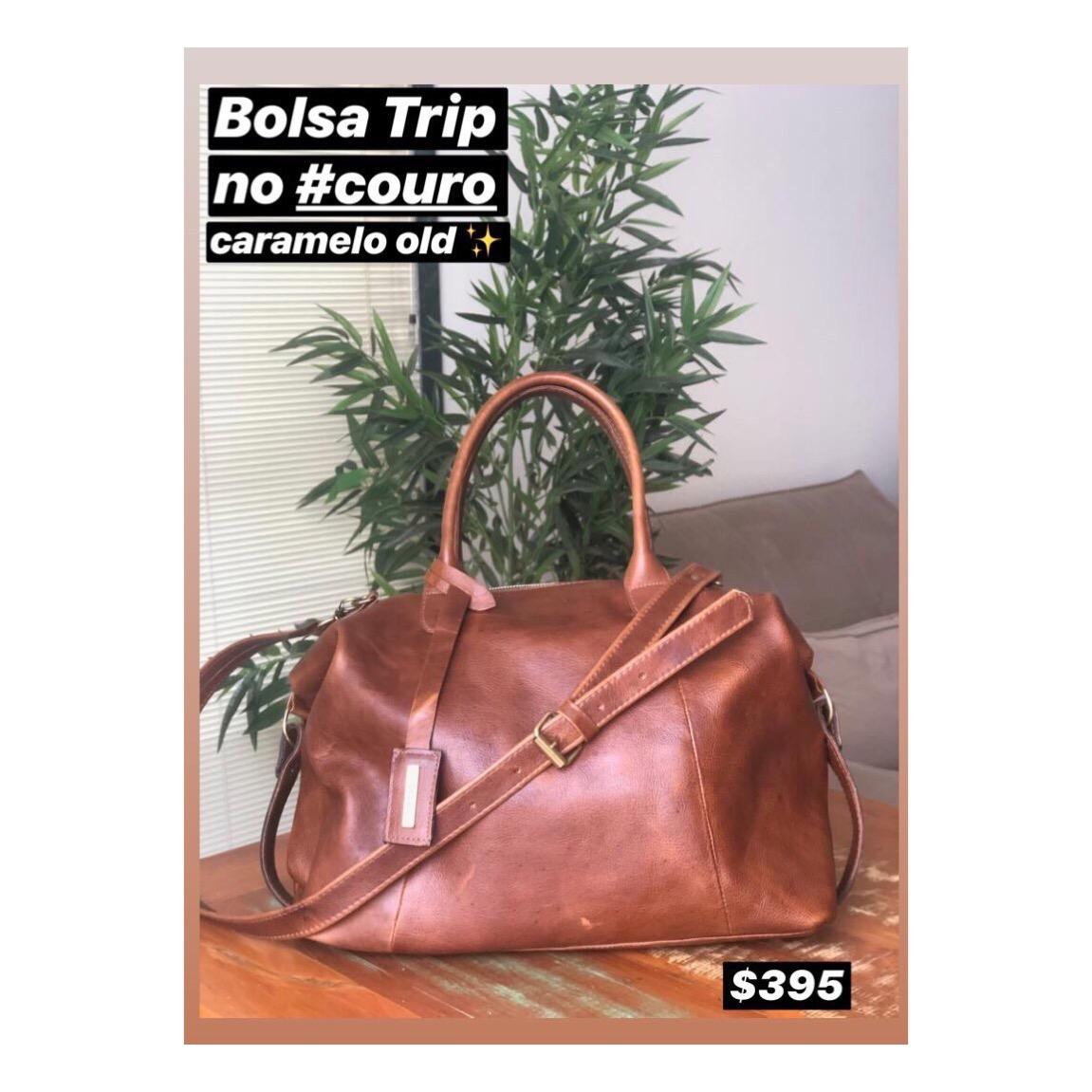BOLSA TRIP NO COURO CARAMELO OLD!