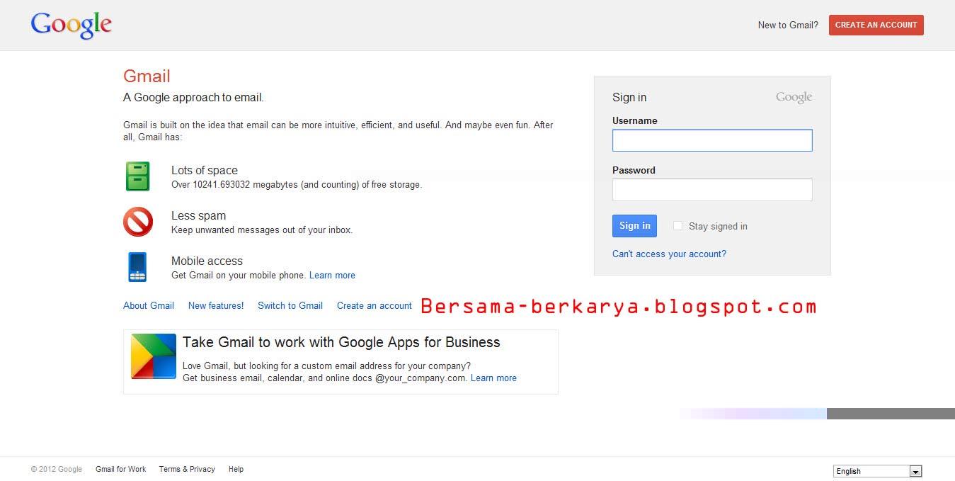 Cara Membuat | Daftar Email Gmail - Google Mail