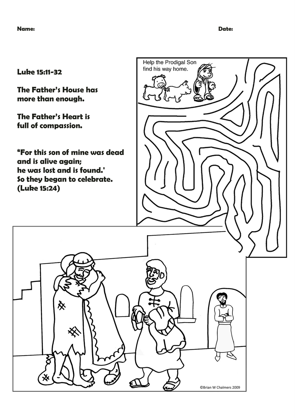 Growing Kids In Grace Parable Of The Lost Sons