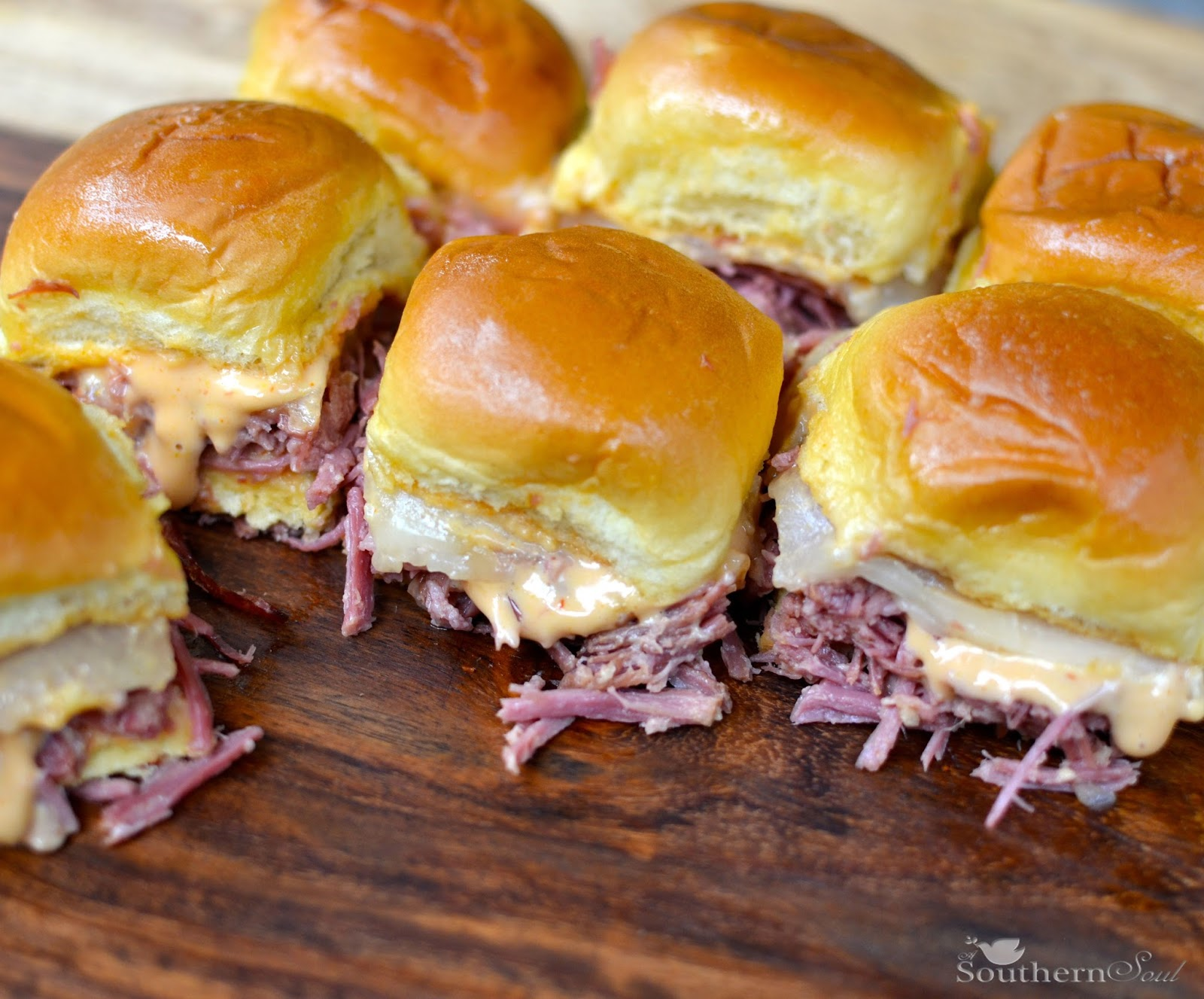 Southern Soul: Slow Cooker Corned Beef Reuben Sliders