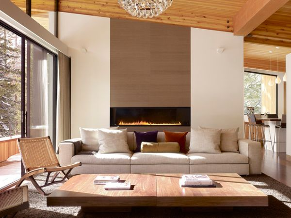 Modern Fireplace Living Room Design : Modern fireplaces - Characteristics And Interior Décor Ideas  Luxury ...