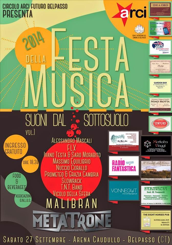 """Festa della musica """"Suoni dal sottosuolo"""""""