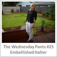 Sydney Fashion Hunter - The Wednesday Pants #25 - Embellished Halter