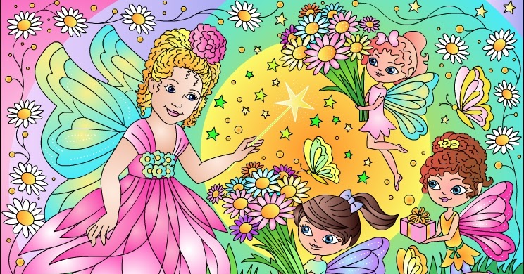 ... Free Coloring Pages: FAIRY FLOWERS * ZANA FLORILOR * Coloring page