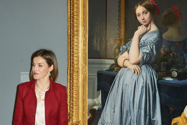 Queen Letizia of Spain attends the opening of the 'Ingres' Exhibition at Prado Museum