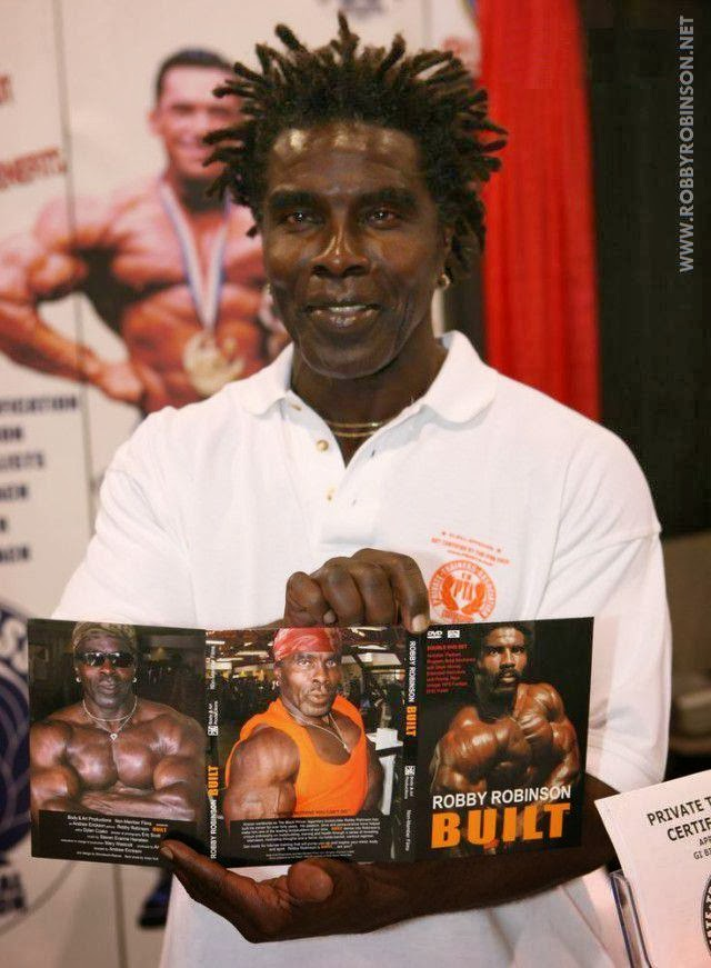 "ROBBY ROBINSON PRESENTING HIS ""BUILT"" Instructional Double DVD - Robby's philosophy on bodybuilding, training and healthy lifestyle, and his old-school workout approach ● www.robbyrobinson.net/dvd_built.php ●"