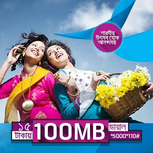 GP 100MB 3G Internet at 15tk
