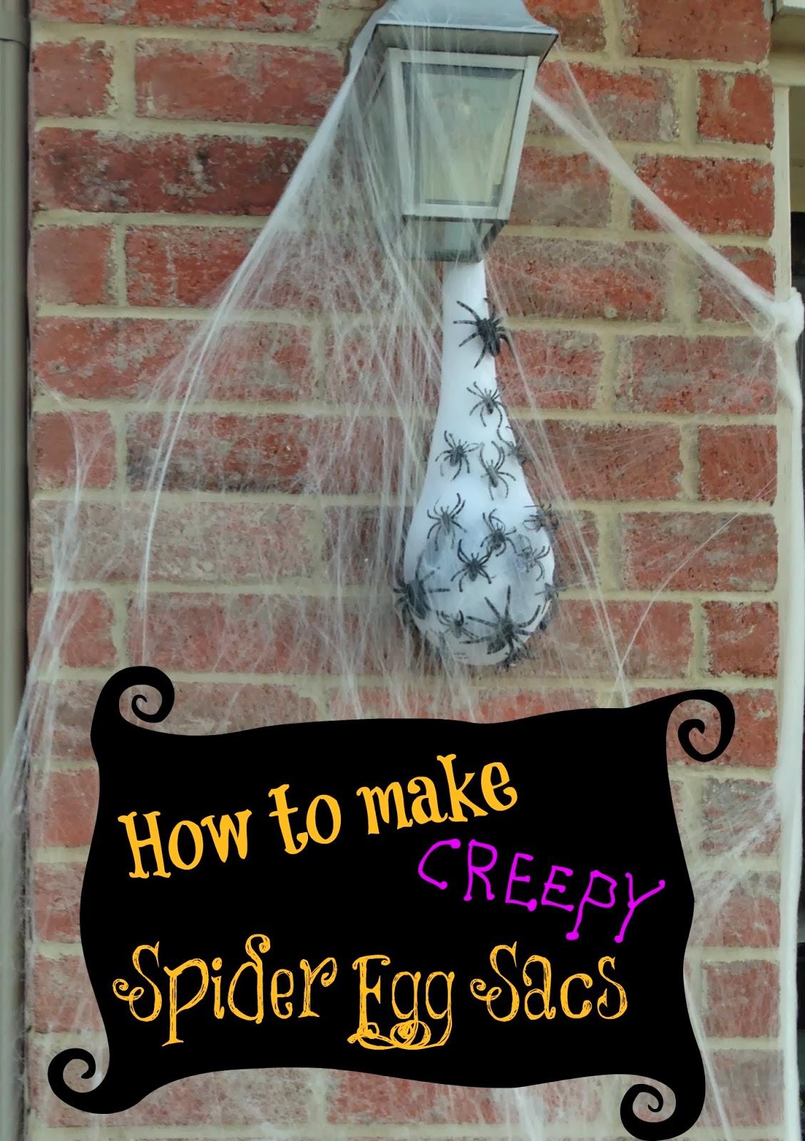 creepy spider egg sac | the tiptoe fairy