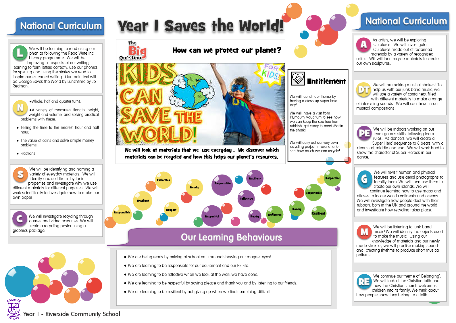 Year 1 Saves the World!