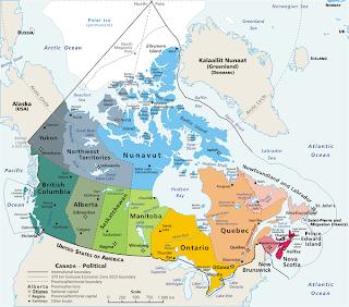 Canadá mide 9.984.670 kilómetros cuadrados.