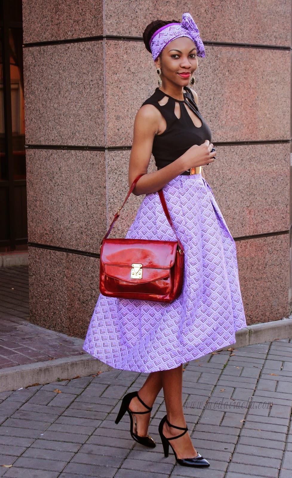 Ankara Full Midi Skirt Modavracha Personal Style Fashion Blog