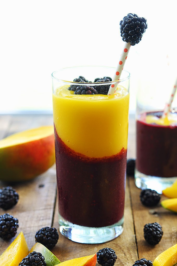 mango and blackberry smoothie